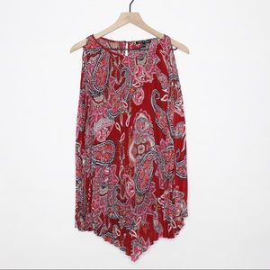 Cable & Gauge Paisley Sleeveless Blouse   A224